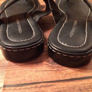 Donald J. Pliner Shoes - Donald Pliner Black Patent Thong Sandals